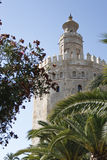 Torre del Oro. The Torre del Oro (Tower of Gold) dates from the 13th century and is  located next to the Guadalquivir river in Seville, Spain. Today it is a Stock Image
