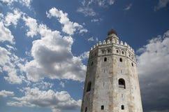 Torre del Oro eller guld- torn (det 13th århundradet), Seville, Andalusia, sydliga Spanien Arkivfoton