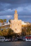 Torre del Oro em Sevilha Fotos de Stock Royalty Free