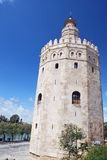 Torre del Oro. (Gold Tower), a dodecagonal military watchtower in Seville, Spain Stock Images