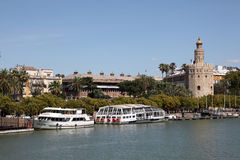 Torre del Oro (Gold Tower) in Seville Stock Photography