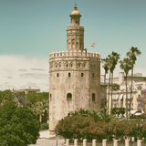 Torre del Oro. The Torre del Oro (Gold Tower) in Seville, Spain royalty free stock images