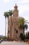 Torre del Oro. The Golden Tower, la Torre del Oro, is an example for moorish architecture, built in the 12th centuriy. It is situated by the river Guadalquivir Royalty Free Stock Images
