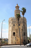 Torre del Oro. The Golden Tower in Seville,  la Torre del Oro, is an example for moorish architecture, built in the 12th century Royalty Free Stock Photography