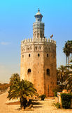 Torre del Oro. The Golden Tower in Seville, la Torre del Oro, is an example for moorish architecture, built in the 12th century Royalty Free Stock Images