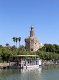 Torre del Oro or Golden Tower (13th century) over Guadalquivir river, Seville, Andalusia, southern Spain Stock Photos