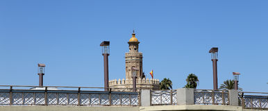 Torre del Oro or Golden Tower (13th century), Seville, Andalusia, southern Spain. Torre del Oro or Golden Tower (13th century), a medieval Arabic military royalty free stock images