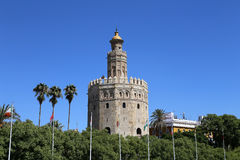 Torre del Oro or Golden Tower (13th century), Seville, Andalusia, southern Spain Stock Photos