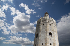 Torre del Oro or Golden Tower (13th century), Seville, Andalusia, southern Spain. Torre del Oro or Golden Tower (13th century), a medieval Arabic military stock photos