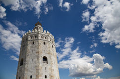 Torre del Oro or Golden Tower (13th century), Seville, Andalusia, southern Spain. Torre del Oro or Golden Tower (13th century), a medieval Arabic military stock photography