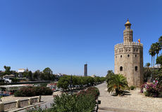 Torre del Oro or Golden Tower (13th century), Seville, Andalusia, southern Spain Royalty Free Stock Photography