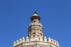 Torre del Oro or Golden Tower (13th century), Seville, Andalusia, southern Spain Royalty Free Stock Photos