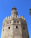 Torre del Oro or Golden Tower (13th century), Seville, Andalusia, southern Spain. Torre del Oro or Golden Tower (13th century), a medieval Arabic military royalty free stock image