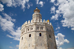 Torre del Oro or Golden Tower (13th century), Seville, Andalusia, southern Spain. Torre del Oro or Golden Tower (13th century), a medieval Arabic military royalty free stock photos