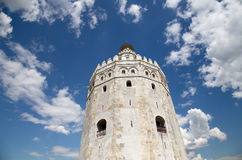 Torre del Oro or Golden Tower (13th century), Seville, Andalusia, southern Spain Stock Images
