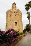 Torre del Oro in Sevilla, Spain. Torre del Oro next to river Guadalquivir in Sevilla, Spain stock photos