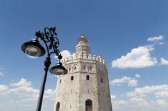 Torre del Oro ou torre dourada (século XIII), Sevilha, a Andaluzia, Espanha do sul Imagem de Stock Royalty Free