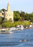 Torre del Oro & river Guadalquivir, Sevilla Stock Images