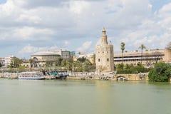 Torre del Oro, Sevilha, rio de Guadalquivir, torre do ouro, Sevil Imagens de Stock