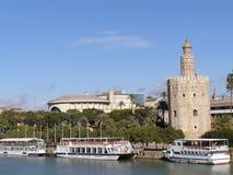 torre del oro sevilla Испании Стоковые Фото