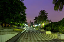 Torre del Oro in Sevilla. Spain at colorful sunrise royalty free stock images