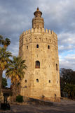 Torre del Oro a Sevilla immagine stock