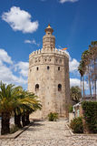 Torre del Oro in Sevilla Stock Images