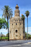 Torre del Oro in Sevilla Royalty-vrije Stock Foto's