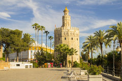 Torre del oro sevilla. Torre del oro in sevilla stock photography