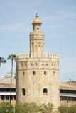 Torre del oro in sevilla. Spain stock images