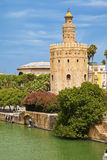 Torre del Oro in Sevilla, Spain Royalty Free Stock Photos