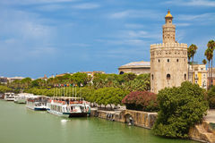 Torre del Oro in Sevilla, Spain Stock Photo