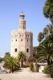 Torre del Oro in Sevilla, Spanje Stock Foto's
