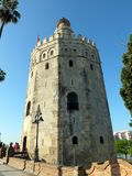 Torre Del Oro Of Seville. The Torre Del Oro housed all the gold which was brought back from the Indies. In it`s history, since it`s 13th century construction, it royalty free stock image
