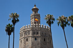 Torre del Oro, Seville. Famous Torre del Oro located on the Guadalquivir river shore in Seville royalty free stock image