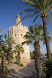 Torre del Oro, Seville. The Gold Tower in Seville, Spain Royalty Free Stock Images