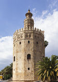 Torre del Oro, Seville. Ancient fortified lighthouse Torre del Oro at Seville, Spain stock image