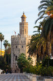 Torre del Oro. Seville, Andalusia. SEVILLE, SPAIN - NOVEMBER 19, 2014: Torre del Oro in Seville of Andalusia royalty free stock images