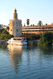 Torre del Oro in Seville - Spain Royalty Free Stock Photos