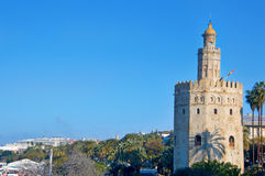 Torre del Oro in Seville, Spain. A view of the Torre del Oro, in Seville, Spain royalty free stock photo