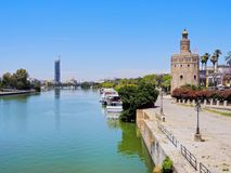 Torre del Oro in Seville, Spain. Torre del Oro - The Gold Tower in Seville, Andalusia, Spain stock images