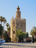 Torre del Oro in Seville, Spain. Torre del Oro - The Gold Tower in Seville, Andalusia, Spain royalty free stock photography