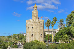 Torre del Oro, Seville, Spain. Torre del Oro tower in Seville, Spain Stock Images