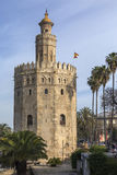Torre Del Oro - Seville - Spain. Torre Del Oro Tower of Gold - a military watchtower in Seville - Spain. Constructed in the early 13th century, the tower served royalty free stock photography