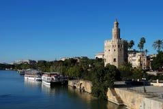 Torre del Oro, Seville, Spanien. Royaltyfri Fotografi