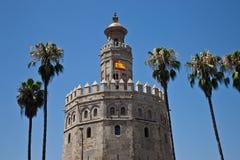 Torre del Oro, Siviglia Immagine Stock Libera da Diritti