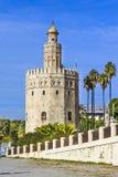 Torre del Oro Stå högt av Seville Royaltyfria Foton
