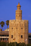 Torre del Oro at sunset. Sevilla, Spain Stock Photos