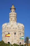 Torre del Oro. (Tower of Gold) in Sevilla, Spain stock photos