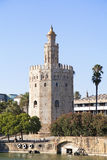 Torre del Oro. (Tower of Gold) in Sevilla, Spain royalty free stock photo